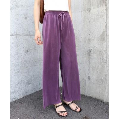 BLUEEAST / マットサテンプリーツパンツ WOMEN パンツ > パンツ