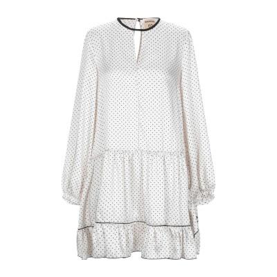 セミクチュール SEMICOUTURE ミニワンピース&ドレス アイボリー 42 ポリエステル 100% ミニワンピース&ドレス