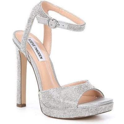 スティーブ マデン レディース サンダル シューズ Luv Rhinestone Embellished Platform Dress Sandals