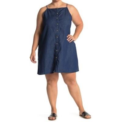 カスロン レディース ワンピース トップス Chambray Dress (Plus Size) DARK WASH