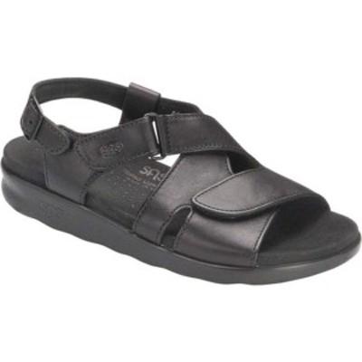 エスエーエス レディース スニーカー シューズ Huggy Adjustable Strap Sandal Black