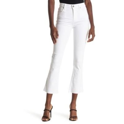 ペイジ レディース デニムパンツ ボトムス Rory Crop Raw Hem Flare Jeans OPTIC WHITE