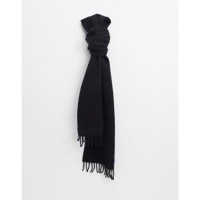 ウィークデイ メンズ マフラー・ストール・スカーフ アクセサリー Weekday Orbit scarf in black Black