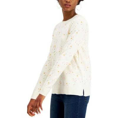 スタイル&コー Style & Co レディース ニット・セーター トップス Star-Print Sweater Vanilla Bean