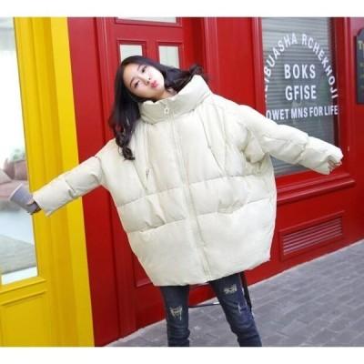 中綿ジャケット レディース 冬服 フード取り外し不可 ダウンコート ドルマンスリーブ ゆったり 暖かい 中綿コート ファスナー 厚手
