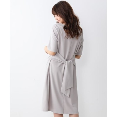 【ジャージーシリーズ】ウエストリボンカットソーワンピース (ワンピース)Dress