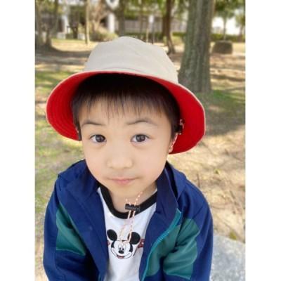 polcadot / [KID'S]バイカラー バケットハット KIDS 帽子 > ハット