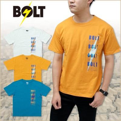 Tシャツ 半袖 メンズ ライトニングボルト サンダーロゴ Tシャツ Lightning Bolt ホワイト マスタード ターコイズ プレゼント
