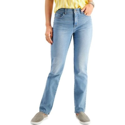 スタイル&コー Style & Co レディース ジーンズ・デニム ボトムス・パンツ Petite Tummy-Control Straight-Leg Jeans Georgia Sky