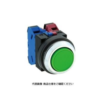IDEC(アイデック) 押ボタンスイッチ 平形 白 ABN103W 1セット(2個)(直送品)