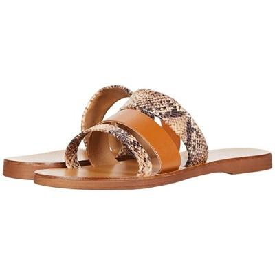Massimo Matteo Snake Leather Slide レディース サンダル Cognac/Snake