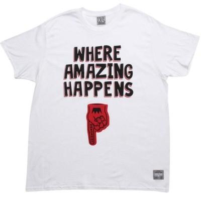 アンダークラウン UNDRCRWN メンズ Tシャツ トップス Where Amazing Happens Tee white/black/red