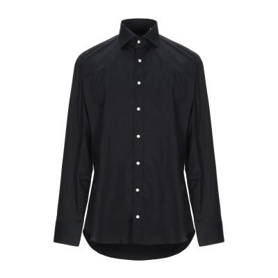 BASTONCINO シャツ ブラック 44 コットン 97% / ポリウレタン 3% シャツ