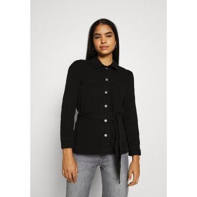 オンリー ジャケット&ブルゾン レディース アウター ONLMELROSE JACKET YORK - Denim jacket - black denim/washed denim