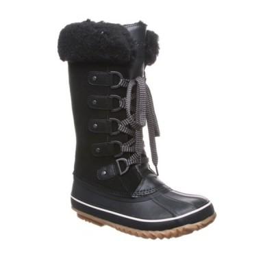 ベアパウ レディース ブーツ&レインブーツ シューズ Denali Wool Blend & Genuine Skeepskin Waterproof Boot BLACK II