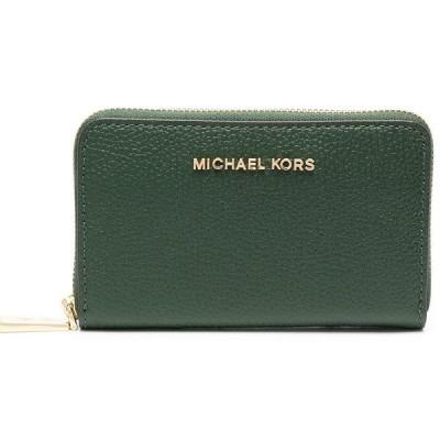 マイケルコース カードケース 32F9GJ6D0L Michael Michael Kors Small Pebbled Leather Wallet (Moss) JET SET スモール ジップアラウンド カードケース