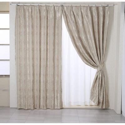 カーテン既製 遮光性 ドレープカーテン・メデューサ裏地付 (巾100×丈135cm) 厚地2枚組 ローズ