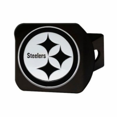 Fan Mats ファン マット スポーツ用品  Pittsburgh Steelers Chrome on Black Hitch Cover