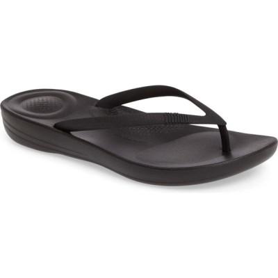 フィットフロップ FITFLOP レディース ビーチサンダル シューズ・靴 iQushion Flip Flop All Black