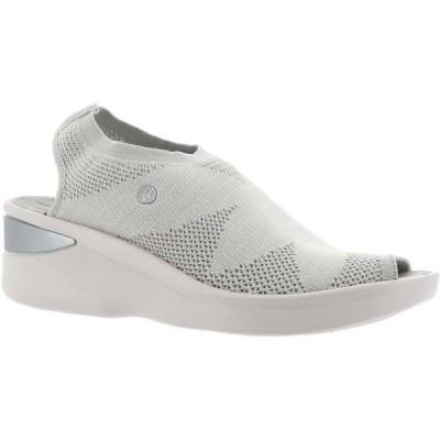 レディース 靴 コンフォートシューズ Bzees Secret Engineered Knit Peep-Toe Sandal Women's 692-611