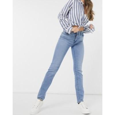 リーバイス レディース デニムパンツ ボトムス Levi's 724 high rise straight leg jeans in mid wash blue Los angeles steeze