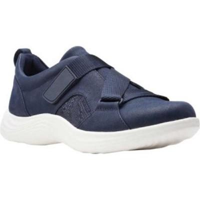 クラークス Clarks レディース スニーカー シューズ・靴 Lulu Go Sneaker Navy Textile