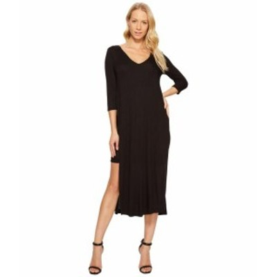 Three Dots スリードッツ ドレス 一般 Double V Hi Low Slit Dress