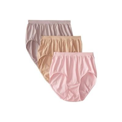 バリ Bali レディース ショーツのみ 3点セット インナー・下着 Comfort Revolution Seamless Briefs 3-Pair Pink/Steel/Nude