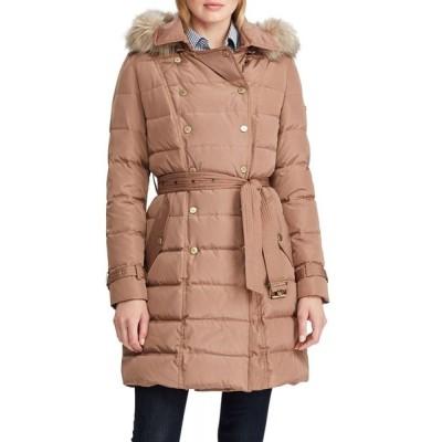 ラルフ ローレン Lauren Ralph Lauren レディース ダウン・中綿ジャケット アウター Faux-Fur Double Breasted Down Puffer Coat