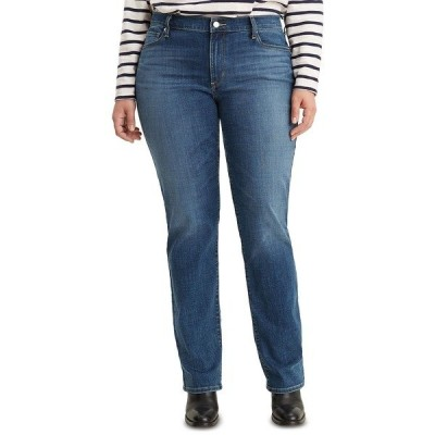 リーバイス デニムパンツ ボトムス レディース Trendy Plus Size Classic Straight-Leg Jeans Maui Waterfall Plus