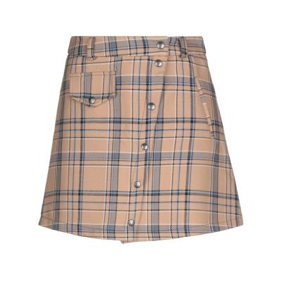 スーベニア SOUVENIR ミニスカート キャメル XS コットン 57% / ポリエステル 35% / レーヨン 8% ミニスカート
