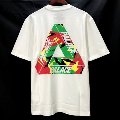 パレス TRI CAMO T-SHIRT 20AW 半袖 Tシャツ ロゴ プリント ストリート 袋付き 美品 メンズ Sサイズ ホワイト PALACE トップス A5503◆