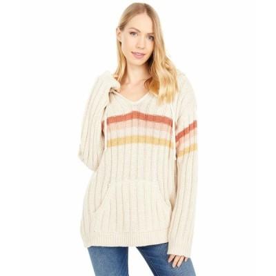 リップカール ニット&セーター アウター レディース Sunshine Stripe Sweater Bone