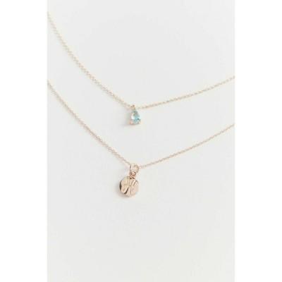 アーバンアウトフィッターズ Urban Outfitters レディース ネックレス チャーム ジュエリー・アクセサリー zodiac charm layering necklace set Pisces