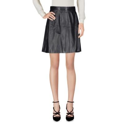 MUUBAA ひざ丈スカート ブラック 16 羊革(ラムスキン) 100% ひざ丈スカート