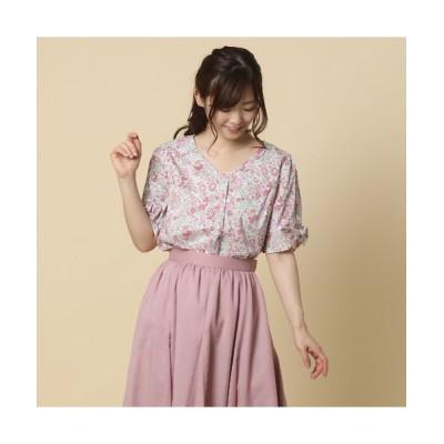 Rose Tiara/ローズティアラ RoseTiara with LIBERTY サンリオキャラクターコラボブラウス ピンク 38