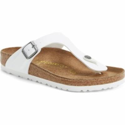 ビルケンシュトック BIRKENSTOCK レディース ビーチサンダル シューズ・靴 Gizeh Birko-Flor Flip Flop White