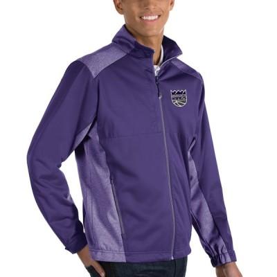 """メンズ ジャケット """"Sacramento Kings"""" Antigua Revolve Full-Zip Jacket - Purple"""