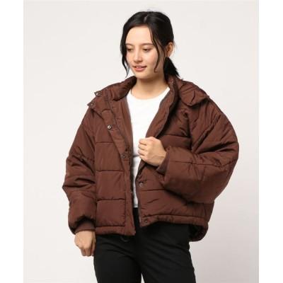 STYLEBLOCK / 高密度タフタビッグシルエットドルマンスリーブ中綿ジャケット WOMEN ジャケット/アウター > ダウンジャケット/コート
