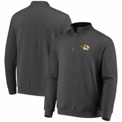"""メンズ ジャケット """"Missouri Tigers"""" Colosseum Tortugas Logo Quarter-Zip Jacket - Charcoal"""
