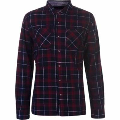 ソウルカル SoulCal メンズ シャツ ネルシャツ トップス Flannel Shirt Black/Wht/Red