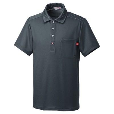 ルコックスポルティフ ユニセックスニットシャツ UZL3062 チャコール L 介護ユニフォーム 1枚(直送品)