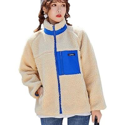 ボアブルゾン レディース ボアジャケット 秋冬 フリース コート もこもこ 防寒 アウターコート羽織り 長袖 胸ポケット あ(s2012251580)