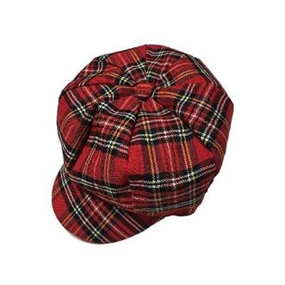 (ボナスティモーロ) Buona stimolo レディース キャスケット つば付き ハンチング帽 チェック ストライプ デニム (01:チェック柄