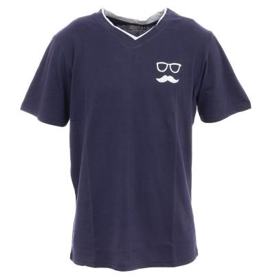 アイスピーク半袖Tシャツ AACH 757673514 390ダークブルーM