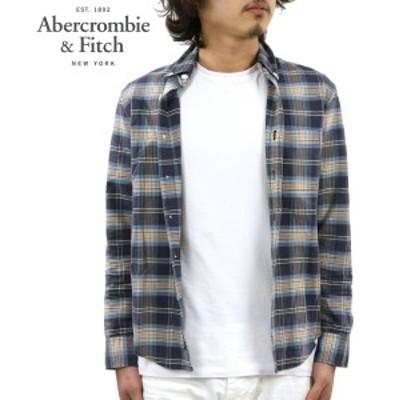 アバクロ シャツ メンズ 正規品 Abercrombie&Fitch 長袖シャツ  Bleached Plaid Oxford Shirt 125-168-2359-208