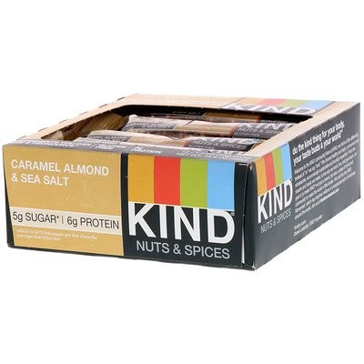Nuts & Spices, Caramel Almond & Sea Salt, 12 Bars
