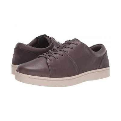 Clarks クラークス メンズ 男性用 シューズ 靴 スニーカー 運動靴 Kitna Vibe - Grey Leather