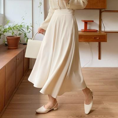 108920語トミンピュアフレアロングスカート[ontheriver] 送料0円! 大人可愛いデイリールック。韓国ファッションNo.1