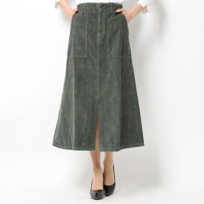 スタイルブロック STYLEBLOCK コーデュロイベーカースカート (カーキ)